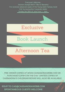 Book Launch pic, cassandra webb